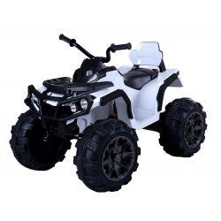 Mașinuță electrică pentru copii Quad Hero 12 V, Albă, Telecomandă 2.4 Ghz, suspensii,  baterie 12V7Ah