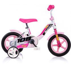 """DINO Bikes - Bicicletă pentru copii 10 """" 108LG - Roză 2017"""