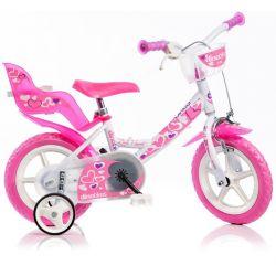 """DINO Bikes - Bicicletă pentru copii 12"""" 124RLN - albă 2017"""