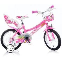 """Bicicletă pentru copii 16"""" DINO Bikes 166R - roză"""