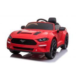 Mașină electrică de jucărie Ford Mustang 24V, roșu, roți EVA moi, Motoare: 2 x 16.000 rpm, baterie 24V, lumini LED, iluminare din spate a roților și a șasiului, telecomandă de 2,4 GHz, MP3 Player, licență ORIGINALĂ