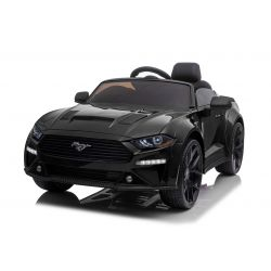 Mașină electrică Ford Mustang 24V, negru, roți Drift Smooth, motor 2 x 25.000 RPM, modul Drift la 13 Km / h, baterie 24V, lumini LED, roți EVA față, telecomandă 2,4 GHz, scaun PU moale, licență ORIGINALĂ