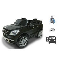 Mașinuță electrică Mercedes-Benz ML 350, Negru, licență originală, uși care se deschid, Scaun din plastic, 2x motoare, baterie de 12V, telecomandă 2,4 Ghz, pornire ușoară, amortizoare