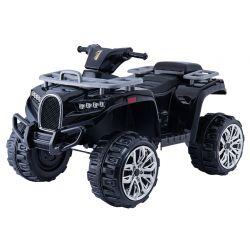 ATV electric tip Quad ALLROAD 12V, negru, roți uriașe EVA, 2 x 12V, motoare, lumini LED,  MP3 player cu port USB, baterie 12V7Ah