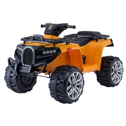 ATV electric tip Quad ALLROAD 12V, Orange, roți uriașe EVA, 2 x 12V, motoare, lumini LED,  MP3 player cu port USB, baterie 12V7Ah