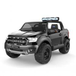 Mașinuță electrică pentru copii Ford Raptor, negru, suspensie de înaltă calitate, lumini LED, scaun,  telecomandă 2,4 GHz pornire din cheie, 4 X MOTOARE, USB, card SD, licență ORIGINALĂ