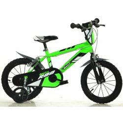 """Bicicletă pentru copii Dino 414UZ -14"""" Verde"""