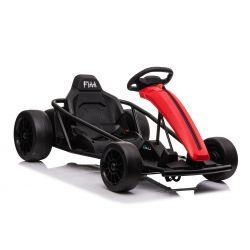 Drift Kart DRIFT-CAR 24V, Roșu, roți smooth Drift, 2 x 350W Motor, modul Drift la 13 Km / h, 24V Baterie, Construcție solidă