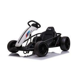 Drift Kart DRIFT-CAR 24V, Alb, roți smooth Drift, 2 x 350W Motor, modul Drift la 13 Km / h, 24V Baterie, Construcție solidă