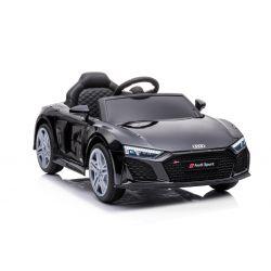 Noua mașină electrică de jucărie Audi R8 Spyder, scaun din plastic, roți din plastic, intrare USB / SD, baterie 12V, MOTOR 2 X 25W, negru, licență ORIGINALĂ