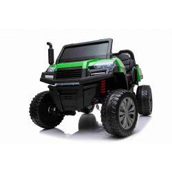 Mașinuță electrică pentru copii FARM RIDER 4X4 cu tracțiune integrală, baterie 2x12V, roți EVA, suspensii, telecomandă 2,4 GHz, 2 locuri, MP3 player  cu intrare USB / SD, Bluetooth