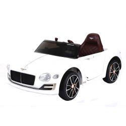 Masina electrica Bentley EXP 12 Prototip, 12 V, 2.4 GHz, ușile se deschid, roți EVA, scaun din piele, 2X MOTOR, ALB, licenta ORGINALĂ
