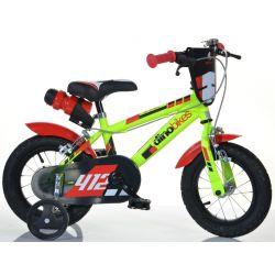 """Bicicletă pentru copii Dino 412US -12"""" negru-roșu"""