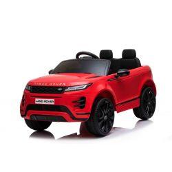 Mașină electrică pentru copii Range Rover EVOQUE, Roșu, Scaun din piele, MP3 player cu intrare USB, unitate 4x4, baterie 12V10Ah, Roți EVA, suspensii spate, pornire din cheie, telecomandă Bluetooth de 2,4 GHz, licențiată