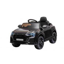 Mașină electrică de jucărie Audi RS Q8, 12V, telecomandă de 2,4 GHz, intrare USB / SD, lumini LED, baterie de 12V, roți EVA moi, MOTOR 2 X 35W, negru, licență ORIGINALĂ