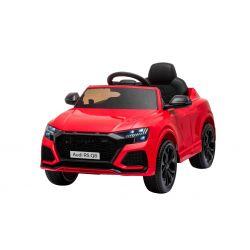 Mașină electrică de jucărie Audi RS Q8, 12V, telecomandă de 2,4 GHz, intrare USB / SD, lumini LED, baterie de 12V, roți EVA moi, MOTOR 2 X 35W, roșu, licență ORIGINALĂ