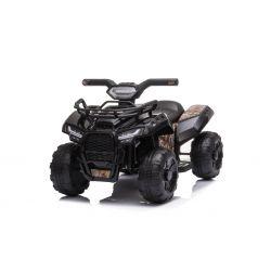 ATV electric MINI 6V, negru, MP3 player cu intrare USB / AUX, motor 1 X 25W, baterie 6V / 4Ah, faruri frontale