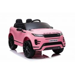 Mașină electrică pentru copii Range Rover EVOQUE, Roz, Scaun din piele, MP3 player cu intrare USB, unitate 4x4, baterie 12V10Ah, Roți EVA, suspensii spate, pornire din cheie, telecomandă Bluetooth de 2,4 GHz, licențiată