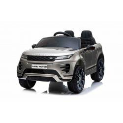 Mașină electrică pentru copii Range Rover EVOQUE, Vopsit, Gri, Scaun din piele, MP3 player cu intrare USB, unitate 4x4, baterie 12V10Ah, Roți EVA, suspensii spate, pornire din cheie, telecomandă Bluetooth de 2,4 GHz, licențiată