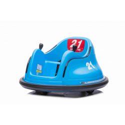 Vehicul electric pentru copii RIRIDRIVE 12V albastru, potrivit pentru utilizare în interior și exterior, telecomandă de 2,4 Ghz, iluminare cu LED, control cu joystick, motor 2 X 15W