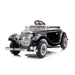 Mașină electrică Mercedes-Benz 540K 4x4 negru, volan pentru adulți, 4x4, baterie 12V14AH, roți EVA, scaun tapițat, 2.4 GHz DO, MP3 Player, USB, Bluetooth, licență originală