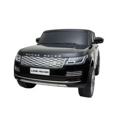 Mașinuță electrică pentru copii RANGE ROVER, negru, scaun dublu din piele, ecran LCD cu intrare USB, 4x4, baterie 2x 12V7Ah, roți EVA, suspensii, pornire cu cheie, telecomandă Bluetooth de 2,4 GHz