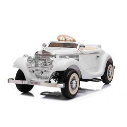 Mașină electrică Mercedes-Benz 540K 4x4 alb, volan pentru adulți, 4x4, baterie 12V14AH, roți EVA, scaun tapițat, 2.4 GHz DO, MP3 Player, USB, Bluetooth, licență originală