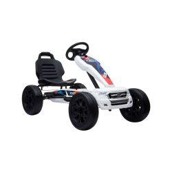 FORD Go Kart - Mașină cu pedale, alb, roți Eva, licență ORIGINAL