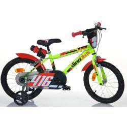 """Bicicletă pentru copii Dino 416US - 16""""  negru - roșu"""