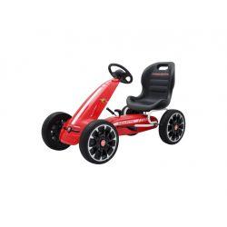 ABARTH Go Kart - Mașină cu pedale, roșu, roți Eva, licență ORIGINAL