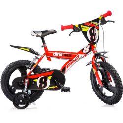 "Bicicletă pentru copii 16"" DINO Bikes 163GLN - roșie"