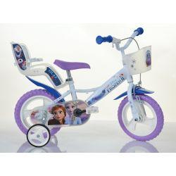 """Biciclete DINO - Bicicletă pentru copii 12 """"124RLFZ3 cu scaun și coș de păpușă - Frozen 2 2019"""
