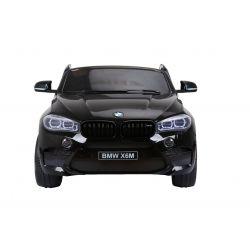 BMW X6 M Mașinuță electrică pentru copii, vopsită în Negru, Două Scaune din Piele, 2x 120W, Licență Originală, Cu Baterii, Uși care se deschid,  frână electrică, 2x motoare, Baterie 12V10Ah,  Telecomandă 2.4 Ghz, roți ușoare EVA, pornire Lină