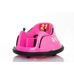 Vehicul electric pentru copii RIRIDRIVE 12V roz, potrivit pentru utilizare în interior și exterior, telecomandă de 2,4 Ghz, iluminare cu LED, control cu joystick, motor 2 X 15W