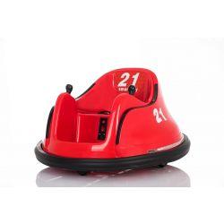 Vehicul electric pentru copii RIRIDRIVE 12V roșu, potrivit pentru utilizare în interior și exterior, telecomandă de 2,4 Ghz, iluminare cu LED, control cu joystick, motor 2 X 15W