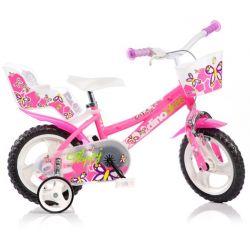 """DINO Bikes - Bicicletă pentru copii 12"""" 126RL - Roză 2017"""