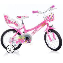 """Bicicletă pentru copii 14"""" DINO Bikes 146R  - roz"""