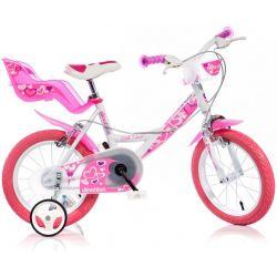 """Bicicletă pentru copii 16"""" DINO Bikes 164RN - alb"""