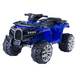 ATV electric tip Quad ALLROAD 12V, Albastru, roți uriașe EVA, 2 x 12V, motoare, lumini LED,  MP3 player cu port USB, baterie 12V7Ah