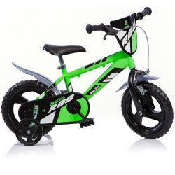 """DINO Bikes - Bicicletă pentru copii 12"""" 412UL - verde 2017"""