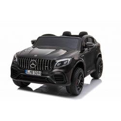 Mașinuță electrică pentru copii Mercedes-AMG GLC, Negru, Scaun dublu din piele, MP3 player cu port USB și Radio, 4x4, baterii 2x 12V7Ah, roți EVA, suspensii, telecomandă de 2,4 GHz, licențiată