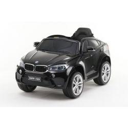 Mașină electrică BMW X6M NOU -negru, roți EVA, scaun din piele, 12V, 2,4 GHz DO, 2X MOTOARE, USB, card SD, licență ORIGINALĂ
