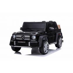 Mașinuță electrică pentru copii Mercedes G650 MAYBACH, Negru, Licență originală,  baterie de 12 V, deschidere uși, motor 2 x 25W, telecomandă de 2,4 Ghz, roți EVA moi, suspensii, pornire lină, MP3 player cu intrare USB / SD