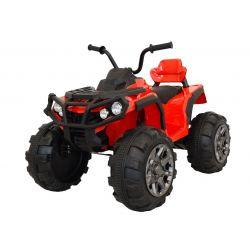 Mașinuță electrică pentru copii Quad Hero 12 V, Roșie, roți ușoare EVA,  Telecomandă 2.4 Ghz, scaun din piele, suspensii,  baterie 12V7Ah