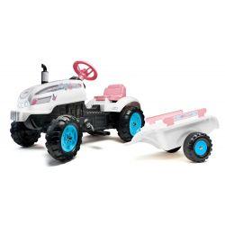 FALK 2042AB Tractor de pedale pentru motocicleta Butterfly Farmer cu capotaj și hota de deschidere