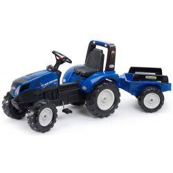FALK Tractor cu pedale  New Holland T8 cu remorcă 3090B