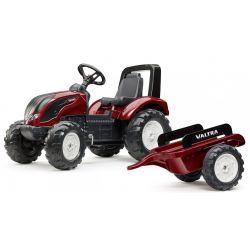 FALK Tractor cu pedale 4000 AB VALTRA S4 cu remorcă