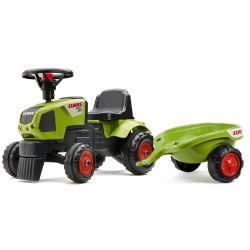 Falk tractor fără pedale 1012B Baby Claas Axos cu remorcă