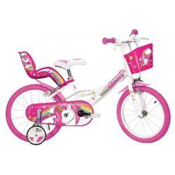 """DINO Bikes - Bicicletă pentru copii 14"""" 144RUN Unicorn"""