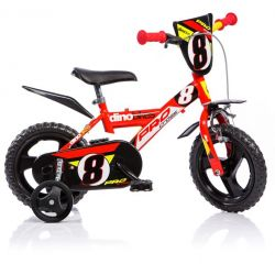 "DINO Bikes - Bicicletă pentru copii 12"" 123GLN - Roșie 2017"